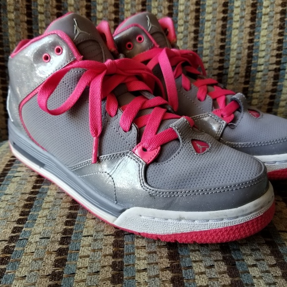 e568ca04848eac Jordan Shoes - Jordan Brand GS Pink and Grey with Sparkles